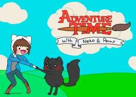 Adventure time: with Neko and Penny by Rockabell-Neko