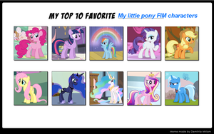 My Top Ten Favorite My Little Pony Characters by MarcosLucky96