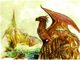 The Hobbit_Smaug by Daswhox
