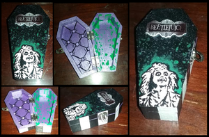 Beetlejuice Themed Coffin Trinket Jewelry Box by emmadreamstar