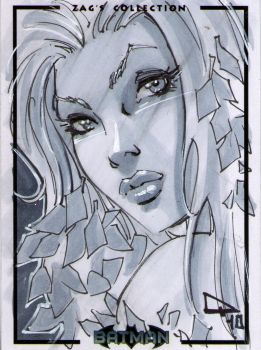 Poison ivy Sketch card by qualano