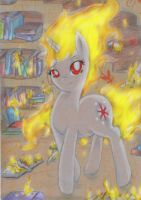 Some Mares just want to watch the World burn by JedielDaniel