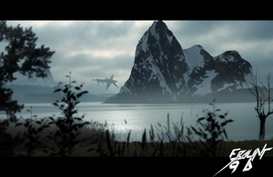 Living in the valley - Version II.(Matte painting) by ebalint96
