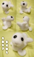 Needle Felting: Baby Seal by ProudPastry