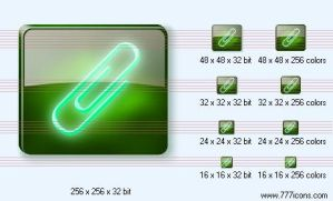 Paper-clip Icon by dedumber