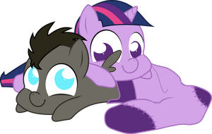 Discorded Whooves and Twilight Sparkle{sock} by Peora