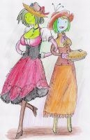 Madam Herbina and little Miss Bloomette by Herbie-and-Company