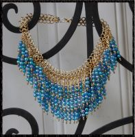 Blue Cascade Necklace by HasturCTS