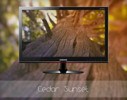 Cedar Sunset by MGWallpaper
