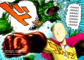 OnePunch Man - Chapter 1 (Coloured + Glow) by Roboartitect