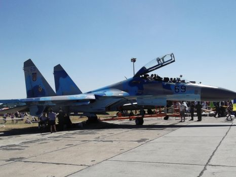 Su-27 Flanker at Kecskemet 2013 by CptDaniel