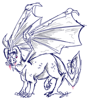 Dragon sketch by ShirleyHeerd