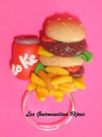 FIMO FAST FOOD RING by GourmandisesBijoux