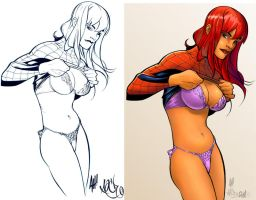 mary jane final look by M09