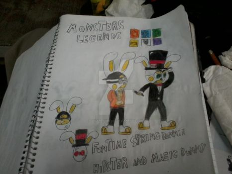 hippster and magic bunny monsters legends by s1carlosreyes