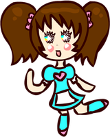 Kawaii Waitress Chibi by Faery-Rainbow