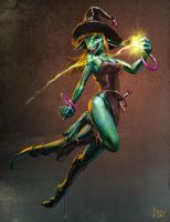 Inika the Witch by CBSorgeArtworks