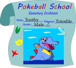 Toothy the Totodile Enrollment... by Fabi-kun