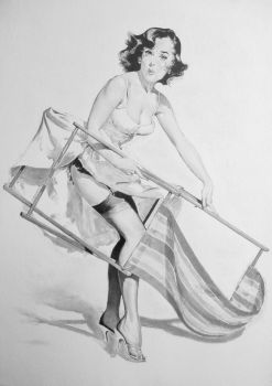 Tribute to Gil Elvgren by stevie-wydder