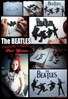 The Beatles custom t-shirt by Vikrapuff