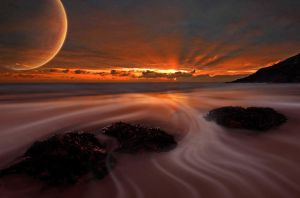 Surreal Beach by Were-Wolf-X10