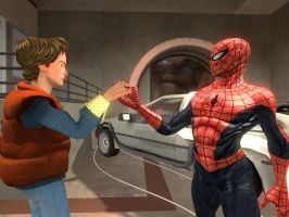 Spiderman and Marty McFly by ErichGrooms3