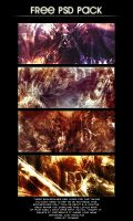 four free backgrounds by dugee81