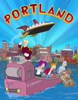 Futurama - Portland Maine by andyjhunter