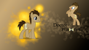 Doctor Whooves Wallpaper by D-SixZey