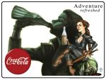 Adventure Refreshed - Vintage Ad Parody Poster by Everwho