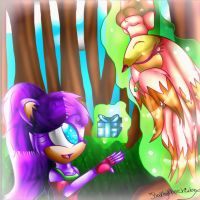 Gift for lunathebunnie- Luna and Kathy by Kathy-the-echidna