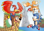 A Rare Sonic Team by Gnarlee