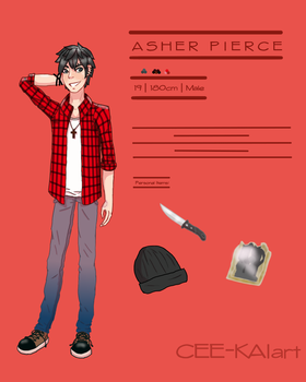 Asher Pierce | OC Design 2017 by CEE-KAIart