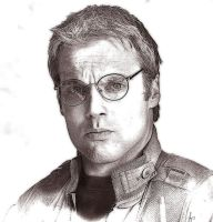 Daniel Jackson photoshop sepia drawing by riverfox1