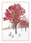Red Tree White Snow by desmo100