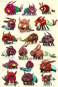 Venipede Variations by fizzycurrant