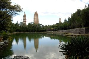 Three Pagodas reflected by wildplaces