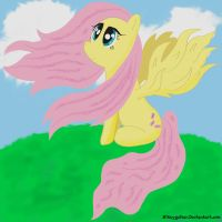 Fluttershy in the Wind by Mikeyguitar