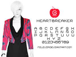 G-Dragon Heartbreaker Font by Milevip