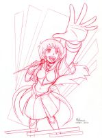 Sailor Sun Idol Singer sketch by RedShoulder