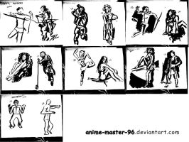 1000 Gesture Drawing Challenge - 15 to 28 by anime-master-96