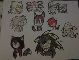Chibi Sonic FC Faces! by NightrunBlaze12