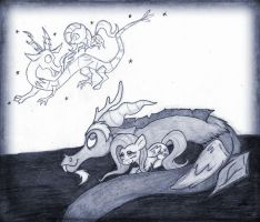 My Funny Friend and Me (Sketch) by wahyawolf