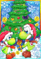 Merry Christmas Little Yoshi by PaperLillie