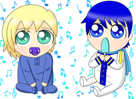 Baby Leon and Kaito by CyanoDrake