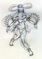 Indian dancer inspiration 01 (sketch) by aggieandco