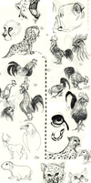 Animal Doodles Sketchdump 2 by Ric-M