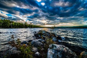Rocky Pier | Pleasant Lake by bentolosa