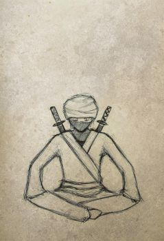 Ninja Pen Sketch by AmaryllisHakatri