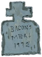 BACON'S MEAT 1992 by justinaerni